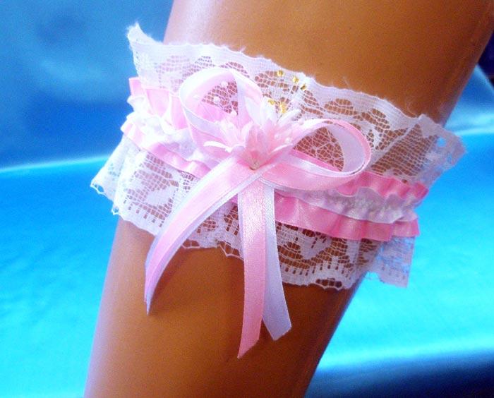 Подвязка на ногу на свадьбу своими руками