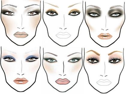 на искусство макияжа,